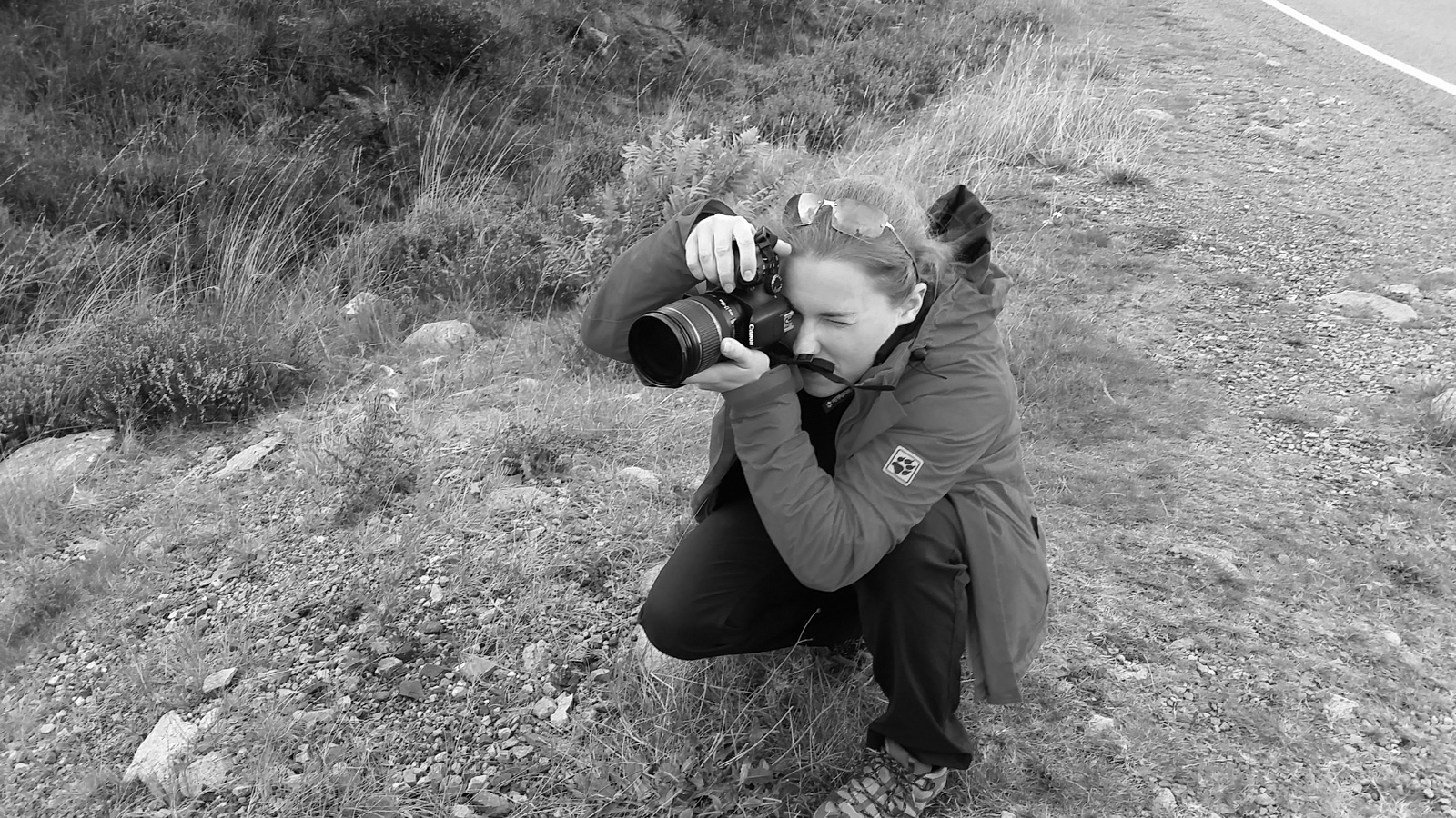 holly blake with her camera